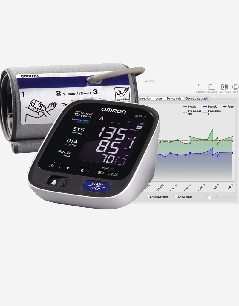 BP Data Explorer for Omron blood pressure monitors